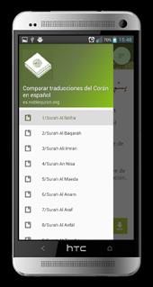 Compare traducciones del Corán v2.0.noblequran.org Android App